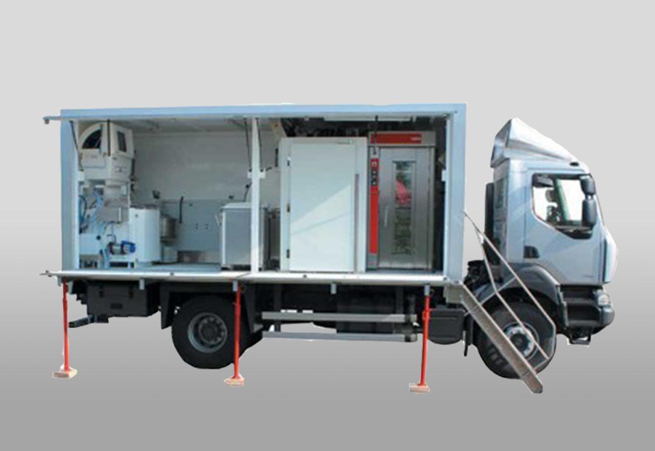 Boulangerie mobile de campagne tex 1000 tt hj for Piscine mobile sur camion