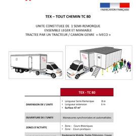 TEX-TOUT CHEMIN TC 80 unité mobile de formation professionnelle